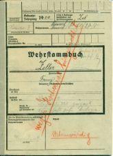 Franz Zeller Wehrstammkarte: